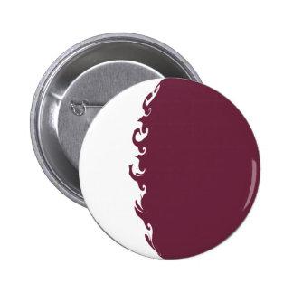 Qatar Gnarly Flag 2 Inch Round Button