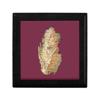 Qatar Map Gift Box
