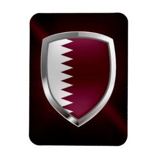 Qatar Metallic Emblem Magnet