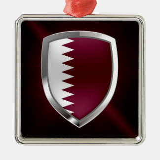 Qatar Metallic Emblem Metal Ornament