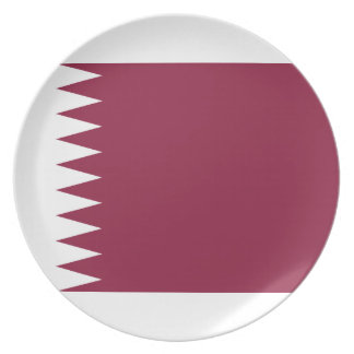 Qatar National World Flag Plate