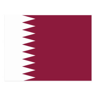 Qatar National World Flag Postcard