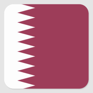 Qatar National World Flag Square Sticker