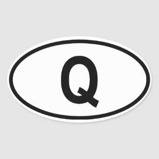"Qatar ""Q"" Oval Sticker"