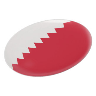 Qatar Red and white Flag Plate