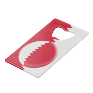 Qatar Red & White Flag Wallet Bottle Opener
