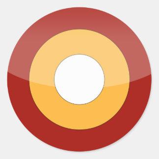 Qatar Round Sticker