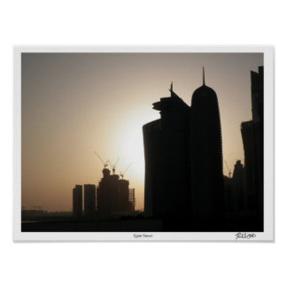 Qatar Sunset Poster