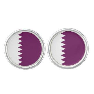 Qatari Flag Round Cufflinks, Qatar Colors Cufflinks
