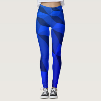 Qbert Geometric Electric Blue Leggings