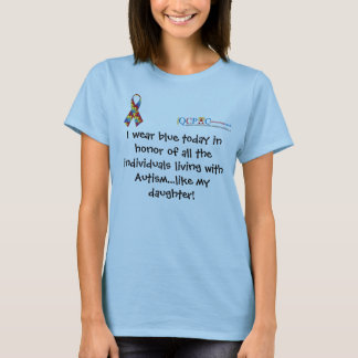 QCPAC logo Blue World Autism Awareness T-shirt