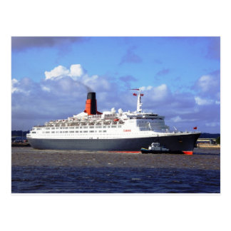 QE11 On the River Mersey, Liverpool UK Postcard