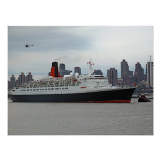 QE2 Passing Midtown Poster