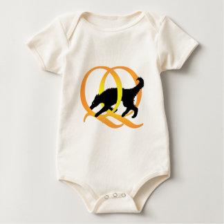 QQ Weaving Dog Baby Bodysuit