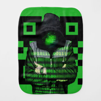 QR Binary Burp Cloth