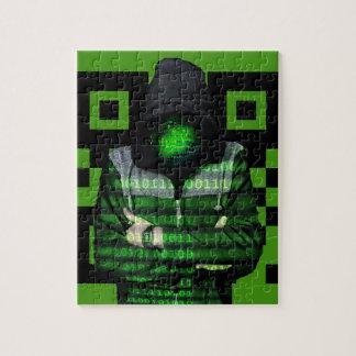 QR Binary Jigsaw Puzzle