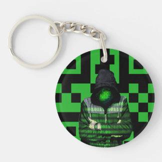 QR Binary Keychain