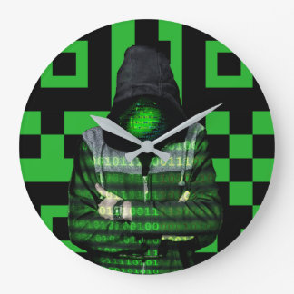 QR Binary Large Clock