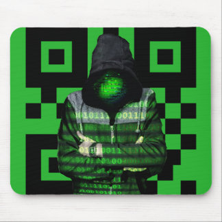 QR Binary Mouse Pad
