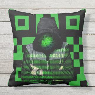 QR Binary Outdoor Pillow