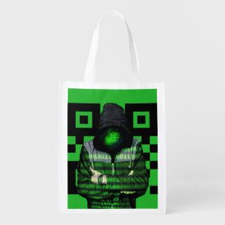 QR Binary Reusable Grocery Bag