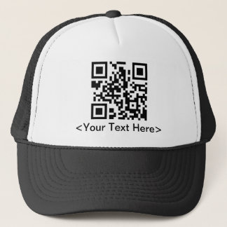 QR Code Baseball Cap With Editable Text