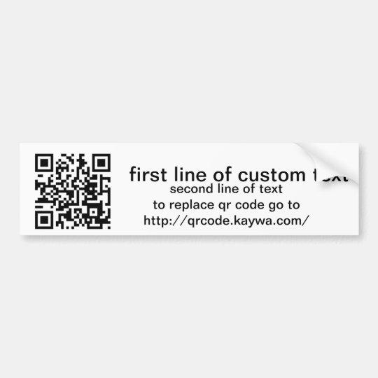 qr code custom bumper sticker