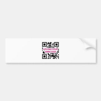 QR Code Customizable Bumper Sticker
