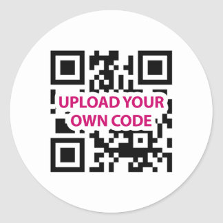 QR Code Customizable Classic Round Sticker
