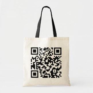 QR code Design Tote:Best on Black or Light Colors Tote Bag