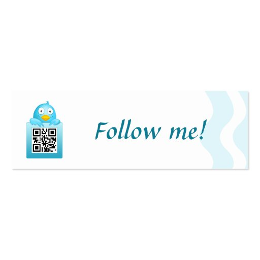 QR Code Follow Me Business Card Template (Skinny)