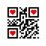 QR-Code-I-Love-You Post Card