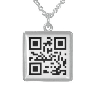 QR CODE I LOVE YOU STERLING SILVER NECKLACE