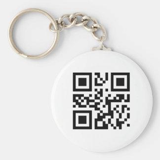 QR Code Keychain Template