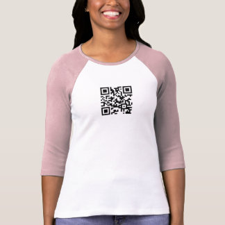 QR Code Ladies Raglan T-Shirt Template