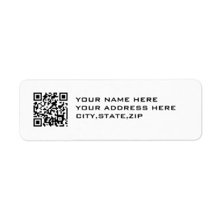 QR CODE RETURN ADDRESS LABEL