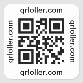 QR code Rick Roll to phone number Square Sticker
