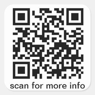 QR Code Small Square Square Sticker