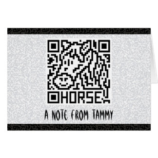 QR Code the Horse Card