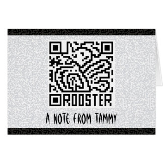 QR Code the Rooster Card