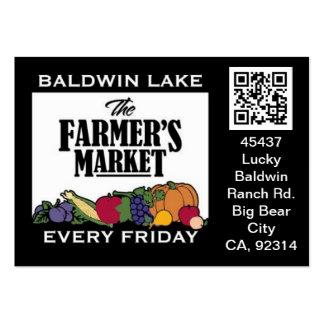 QR Code Traceable Shelftalker for Farmer's Market Large Business Card
