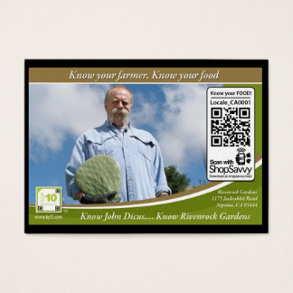 QR Code Traceable Shelftalker (Independent Farm) Business Card