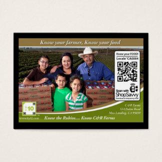 QR Code Traceable Shelftalker (Independent Farm) Business Card