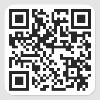 QR-code URL sticker 2.5 x 2.5 inches