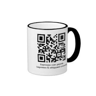 QR Espresso con panna Ringer Coffee Mug