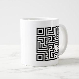 QR Maze Large Coffee Mug
