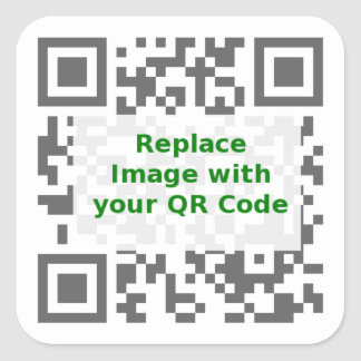 QR Scan Code - Promote Your Message Anywhere Square Sticker