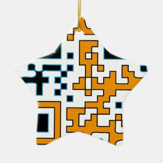 QR-sport Ceramic Star Ornament
