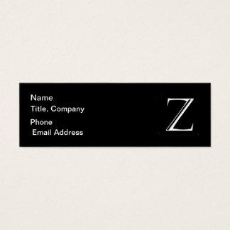 QRCode Monogram Skinny Biz Card