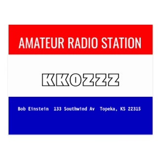 QSL Card Amateur Radio Station
